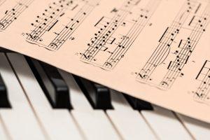 Pianoforte spartito musicale